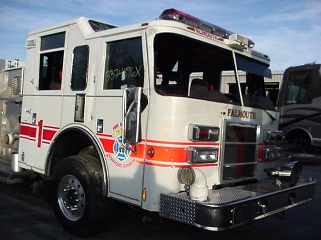 2004 PIERCE FIRE TRUCK PUMPER DAMAGED/WRECKED- SALVAGE PARTS FOR SALE