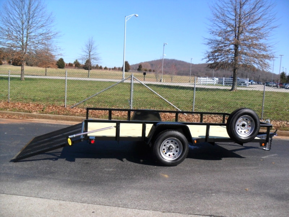 Utility trailers 6x12 utility landscape trailer for sale for 6x12 wood floor trailer